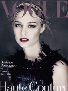 Beatrice Borromeo by Paolo Roversi for Vogue Italy September 2015 Haute Couture Supplement cover - CHANEL Fall 2015 Haute Couture