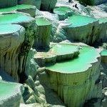 Natural rock pools, Pamukkale, Turkey | Paint My Place App | http://www.paintmyplace.mobi/