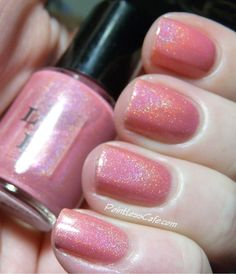 Strawberry Ice Cream Soma Full Size Holographic Nail Lacquer : Literary Liquors Collection on Etsy, $10.00
