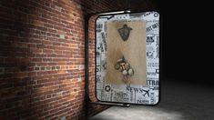 Bieröffner magnetisch auf Holzimitat , 18/30 cm Bottle Opener, Barware, Storage, Wall, Furniture, Home Decor, Key Bottle Opener, Store, Home Furnishings