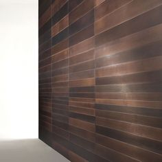 Wall covering panels in burnished copper. Boiserie Stars ST 61 M - Bartoli Design | Laura Meroni