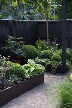 Contemporary black fencing in a lush green garden Malmö Garden Show 2017 – Purple Area AB Small Gardens, Outdoor Gardens, Small Courtyard Gardens, Front Gardens, Coastal Gardens, White Gardens, Garden Show, Garden Fencing, Garden Path