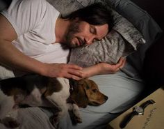 Keanu Reeves as John Wick (with his adorable puppy!)