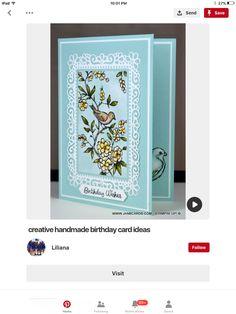 Bird Cards, Handmade Birthday Cards, Stamping Up, Stampin Up Cards, Cardmaking, Birthdays, Bloom, Birds, Altenew