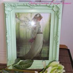 ♥♥ Custom Designed Mint Green French Antique Style Moulded Plastic Frame ♥♥