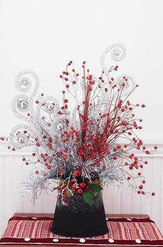 Take a look at our RAZ 7 Inch Holly Top Hat Christmas Decoration, as well as other Tabletop Decorations available for sale here at Trendy Tree - Raz trendy and whimsical Christmas decoration and stunning home accessories. All Things Christmas, Winter Christmas, Christmas Home, Christmas Wreaths, Christmas Berries, Christmas Arrangements, Christmas Centerpieces, Xmas Decorations, Top Hat Centerpieces