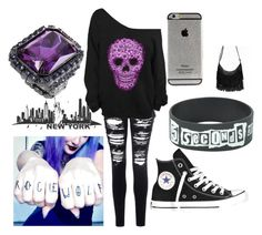"""""""Untitled #564"""" by chloeecollins ❤ liked on Polyvore featuring Glamorous and Converse"""