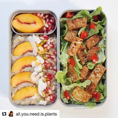 Here are some pretty colors in this lunch box MB Original personn . Healty Lunches, Vegan Lunches, Vegan Snacks, Healthy Snacks, Vegan Recipes, Healthy Eating, Cooking Recipes, Box Lunches, Vegan Meal Prep