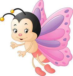 butterfly clip art: illustration of Cute butterfly cartoon Vettoriali Cartoon Cartoon, Cute Cartoon Drawings, Cute Cartoon Girl, Art Drawings For Kids, Easy Drawings, Cartoon Butterfly, Butterfly Clip Art, Cute Butterfly, Cute Clipart