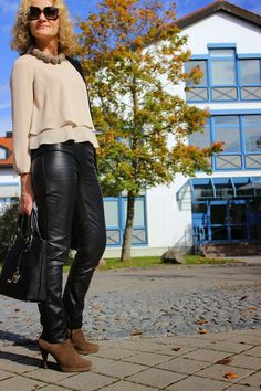 5 WAYS TO STYLE  A FAKE LEATHERPANTS