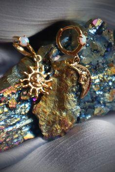 Gold Fan Necklace vintage bracelet celestial jewelry Gypset Jewelry Vintage Crescent Moon Layering Necklace