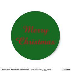 Christmas Amazone Red Green Sticker by Janz Christmas Stickers, Sticker Design, Red Green, Graphic Design