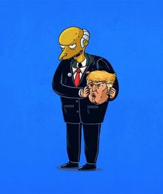 """Quem dá vida a Donald Trump, pré-candidato à Presidência da República, é na verdade outra persona controversa: o Sr. Burns, de """"Os Simpsons""""."""