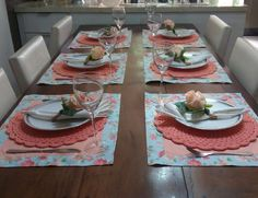 Dining Etiquette, Beautiful Table Settings, Dinner Sets, Wedding Table, Tablescapes, Flamingo, Napkins, Plates, Sewing