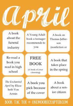 April Book Tac Toe
