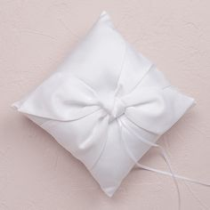 Beverly Clark Tie The Knot Collection Ring Pillow (White or Ivory)