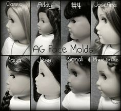Never Grow Up: A Mom's Guide to Dolls and More!: American Girl Doll Face Mold Comparison :)