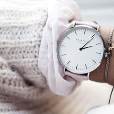 Soft pink for today   > www.rosefieldwatches.com