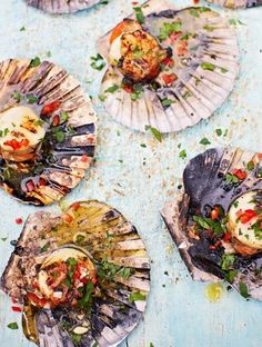 GRILLED SCALLOP with WHITE WINE & CHILE GARLIC BUTTER [dj bbq] [jamieoliver]