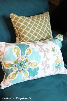Ideas for my teal couch.