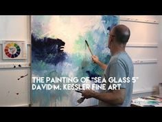 Abstract Painting-The Painting of Sea Glass 5 Abstract Painting Easy, Abstract Canvas Art, Abstract Paintings, Painting Videos, Painting Techniques, Painting Tutorials, Painting Workshop, Art Abstrait, Landscape Paintings