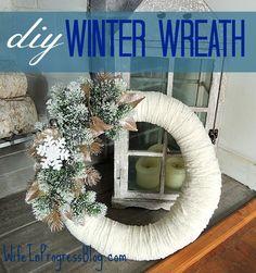 DIY Winter Wreath | WifeInProgressBlog.com