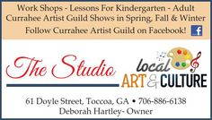 Work Shops - Lessons For Kindergarten - Adult  Currahee Artist Guild Shows in Spring, Fall... | The Studio and Frame Shop - Toccoa, GA #georgia #LavoniaGA #shoplocal #localGA