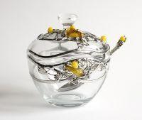 Ozdobna cukiernica szklana Kropla Miodu