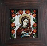 Icoane Pe Sticla Artizanat - Adam Curta - Pictor Iconograf Christian Paintings, Byzantine Icons, Religious Art, Folk Art, Medieval, My Arts, Traditional, Embroidery, Frame