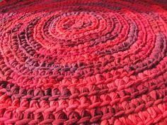 OOAK Upcycled TShirt Crochet Rag Rug Shades of by LakeShoreHome, $50.00