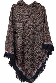 Grande taille –boheme-boho chic-bohemian-poncho-veste –cape-plus size