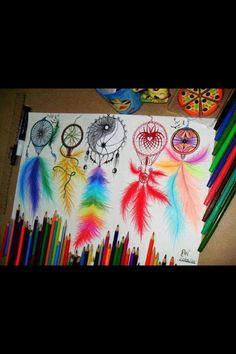 Dream Catcher tattoo/sketch ideas