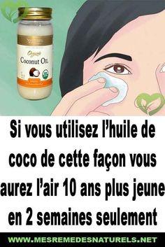 Si vous utilisez l'huile de coco de cette façon vous aurez l'air 10 ans plus jeune en 2 semaines seulement Coco Oil, Health Benefits, Mascara, Beauty Hacks, Cosmetics, Air, Memes, Amazing, France