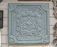 Old Tin Tile. Framed and ready to hang.  Antique architectural salvage.  by DriveInService, $59.00