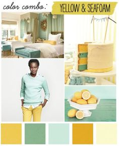 Yellow & Seafoam Green