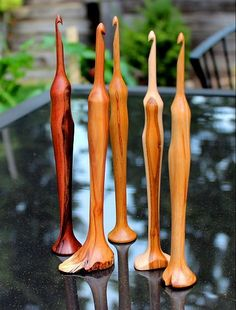 wooden crochet hooks - how gorgeous, the ones in the picture are from 'Jimbo's front porch'
