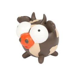 Pet Buddies Googlies Crystal Cow has big eyes that are hard to resist and are fun dog toys made from durable natural rubber in vibrant colors.    Squeak, toss, and bounce these big eyed characters!    Helps promotes healthy teeth and gums.