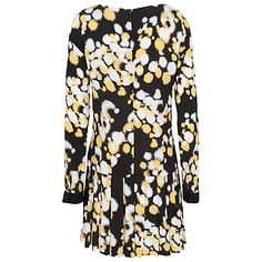 £36 Buy French Connection Open Palette Dress, Black/Citronella Online at johnlewis.com