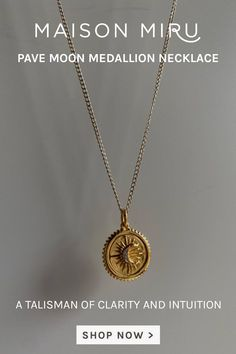 I designed the Pave Moon Medallion Necklace as a talisman of clarity and intuition. Wear it solo, or team it with our initial charms to make your modern heirloom uniquely your own. Build your own modern heirloom - with emblems of love, luck, hope and happiness - to remind you of who you are and to tell your unique story.