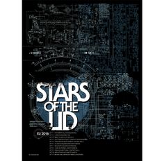 Official poster in support of Stars of the Lid's European tour for Printed with 3 spot colors on thick black paper stock Size: x. European Tour, Black Paper, Bands, Posters, Printed, Colors, Design, Band, Poster