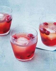 Bourbon-Cranberry Shrub | Martha Stewart Living.