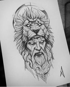 Image could contain: Drawing, # could . - Image could contain: drawing, tattoos god - Lion Sketch Tattoo, Lion Tattoo Design, Tattoo Sketches, Sketch Drawing, Lion Tattoo Images, Owl Tattoo Drawings, Sketch Tattoo Design, Zeus Tattoo, Norse Tattoo