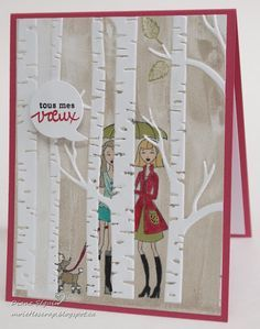 3D effect with woodland embossing folder