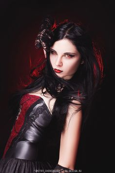 Satan has all the best girls Female Vampire, Vampire Girls, Goth Beauty, Dark Beauty, Zombies, Gothic Images, Gothic Art, Cute Emo Girls, Gothic Lingerie
