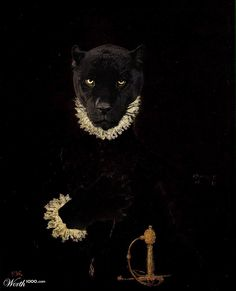 Very elegant, dark and sexy Black Panther in a classic oil portrait style! Look at the wonderful details! Just imagine this portrait re-done in full wall size! Black Animals, Animal Heads, Animal Wallpaper, Dog Portraits, Pet Clothes, Animal Paintings, Spirit Animal, Cat Art, Animal Photography