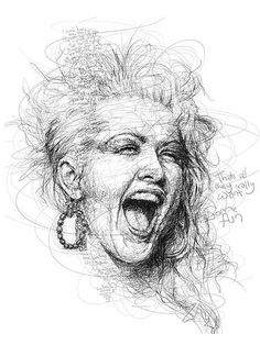 Learn to Draw Realistic Portraits in Pencil Pencil Portrait, Portrait Art, Sketch Painting, Drawing Sketches, Caricature, Scrabble Art, Cyndi Lauper, Celebrity Drawings, Photoshop