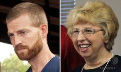 エボラ出血熱にかかり米国で治療を受けているナンシー・ライトボル(Nancy Writebol)さん(右)とケント・ブラントリー(Kent Brantly)さん。キリスト教系支援団体「SIM」とサマリタンズパース(Samaritan's Purse)提供(撮影日不明)。(c)AFP/SAMARITAN'S PURSE/JONI BYKER/SIM/HANDOUT ▼6Aug2014AFP|エボラ出血熱発症の米国人女性、帰国して入院 2人目 http://www.afpbb.com/articles/-/3022379