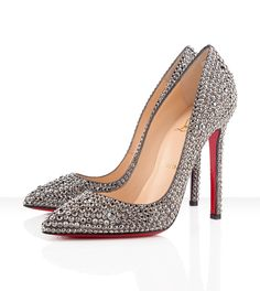 Stunning! Christian Louboutin Pigalle Strass Pumps in Hematite...Hey, only $3,395.00