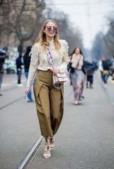 Our Favorite Street Style Shots From Milan Fashion Week via @WhoWhatWearUK