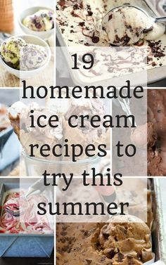 19 Homemade Ice Cream Recipes You Need To Make This Summer selber machen ice cream cream cream cake cream design cream desserts cream recipes Cold Desserts, Ice Cream Desserts, Frozen Desserts, Ice Cream Recipes, Frozen Treats, Summer Desserts, Achiote, Mantecaditos, Gula